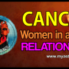 Can­cer woman in a love relationship
