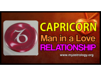 Capri­corn man in a love relationship