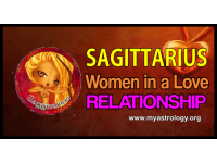 Sagit­tar­ius woman in a love relationship