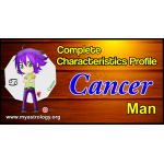 A Complete Characteristics Profile of Cancer Man
