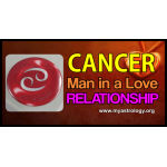 Can­cer man in a love relationship