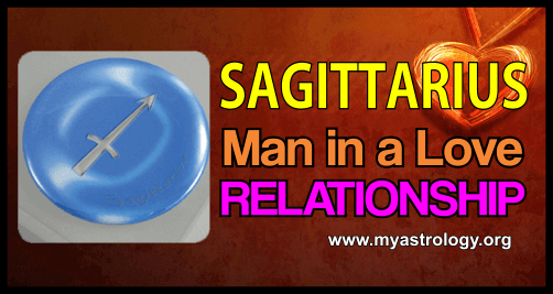 Sagit­tar­ius man in a love relationship