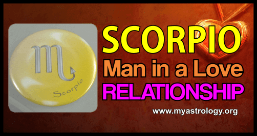 Scor­pio man in a love relationship